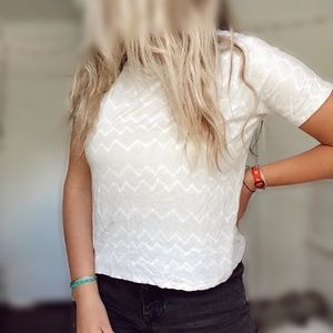 Old Navy Chevron-Patterned T-Shirt Crop Top